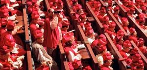 1962-1965: EvÍque assistant ‡ une session du concile Vatican II, bas. Saint Pierre, Rome, Vatcan. 1962-1965: Bishops during Vatican II Council, Roma, Vatican.